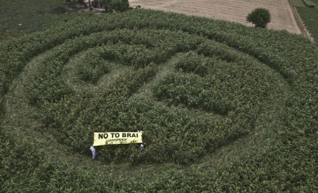 Crop circle in protest against BRAI bill
